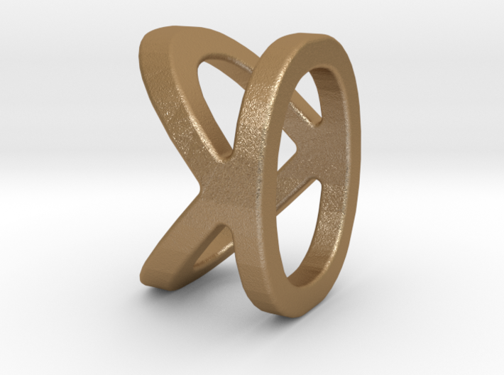 Two way letter pendant - KO OK 3d printed