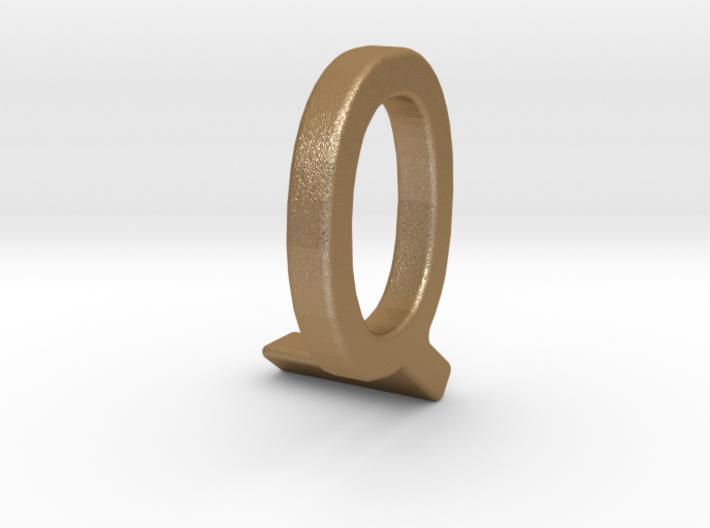 Two way letter pendant - LQ QL 3d printed