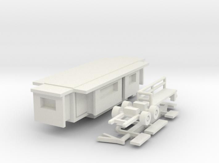 Wohnwagen Kasten 10m 1:220 (Z scale) 3d printed