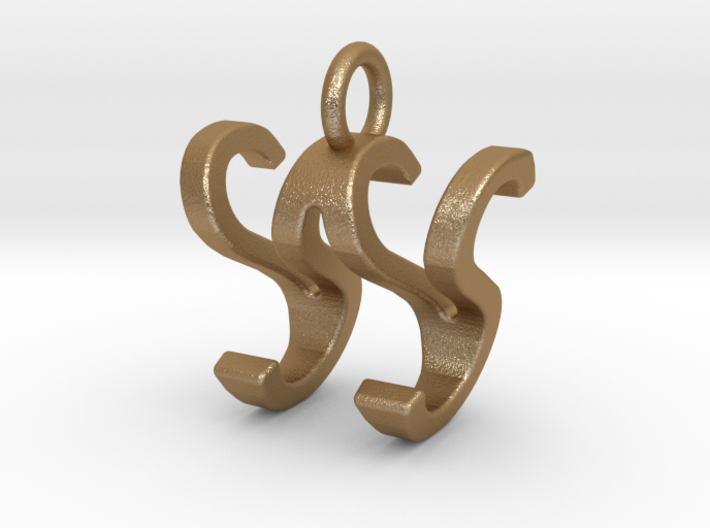 Two way letter pendant - SW WS 3d printed