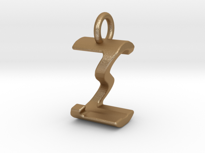 Two way letter pendant - SZ ZS 3d printed