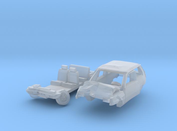 Renault 5 Accident (N 1:160) 3d printed
