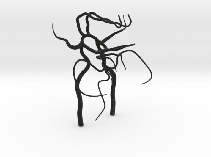 Circle of willis - brain vasculature 3d model 3d printed