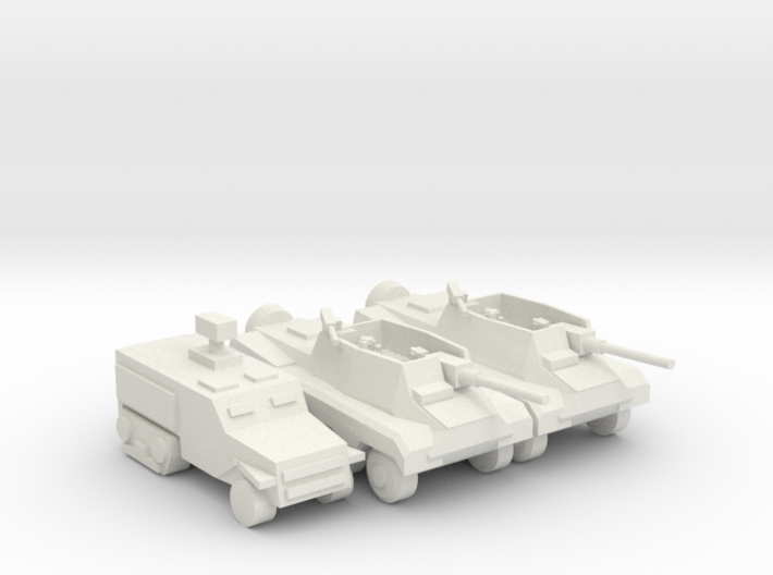 Wheeled Td Platoon 3d printed
