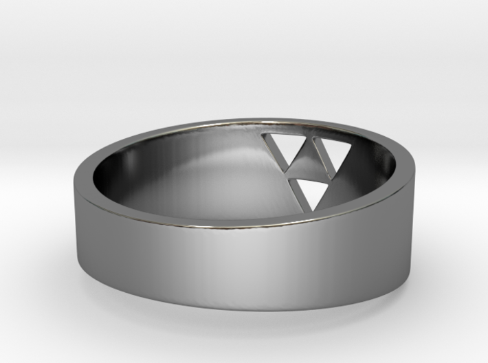 "Triforce Ring - 8"" 3d printed"