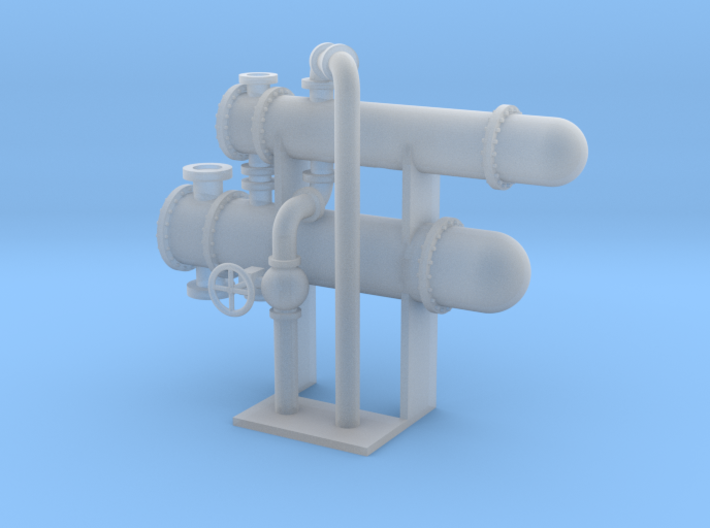 HO Scale Heat Exchanger Double 3d printed