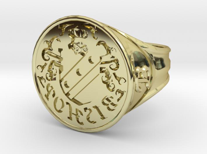 Bishop Family Signet Ring Size 12.5 3d printed