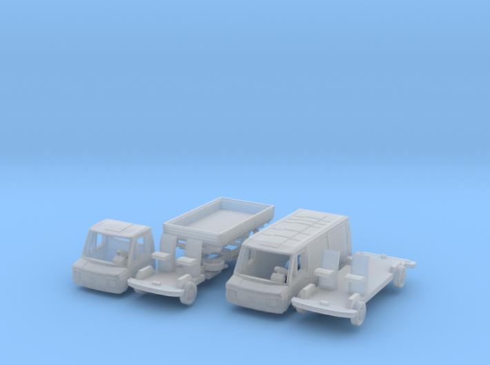 SET 2x Mercedes-Benz 207D (N 1:160) 3d printed