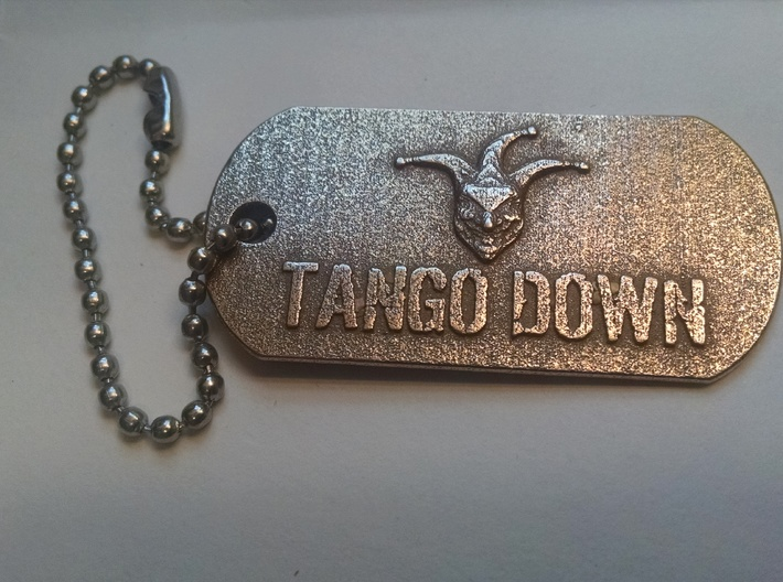 TH3J35T3R Dog Tag 3d printed Stainless Steel