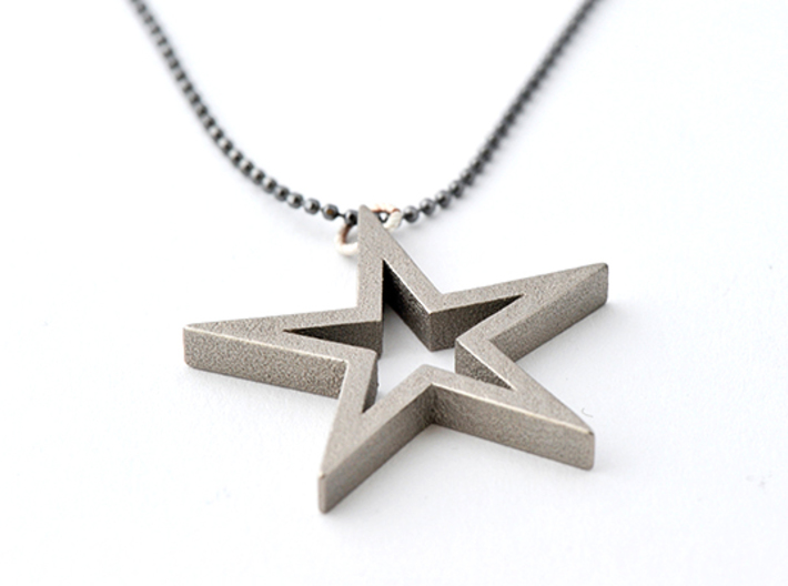 Star Pendant Necklace 3d printed