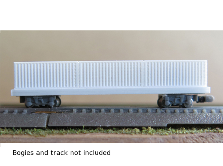 1/450 Container Wagon B x1 3d printed Container wagon with tgauge.com bogies