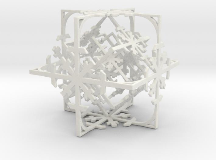 Snowflake Cube (Christmas Tree bauble?) 3d printed