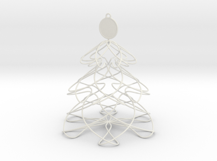 Twisted tree Christmas ornament 3d printed
