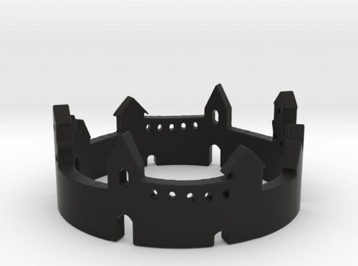 Walled Town Ring 3d printed