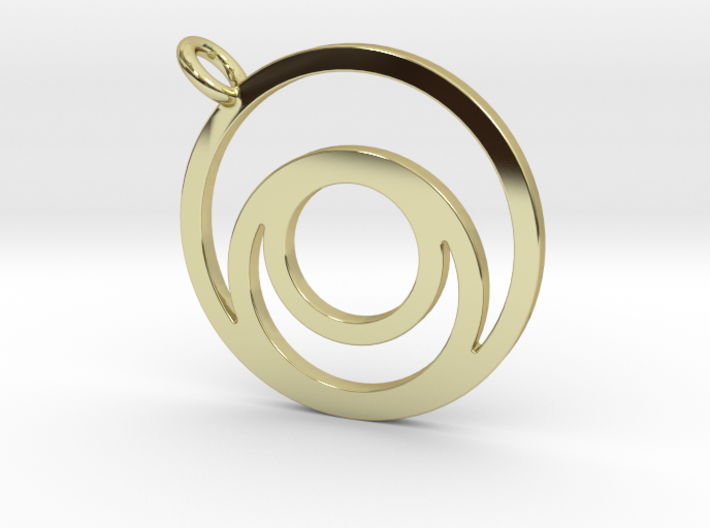 Nested Circles Pendant 3d printed
