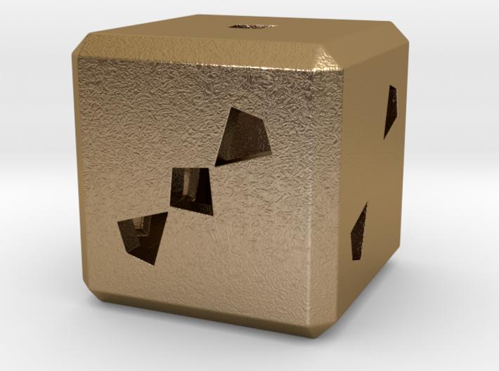 Dice No.3 L (balanced) (3.6cm/1.42in) 3d printed