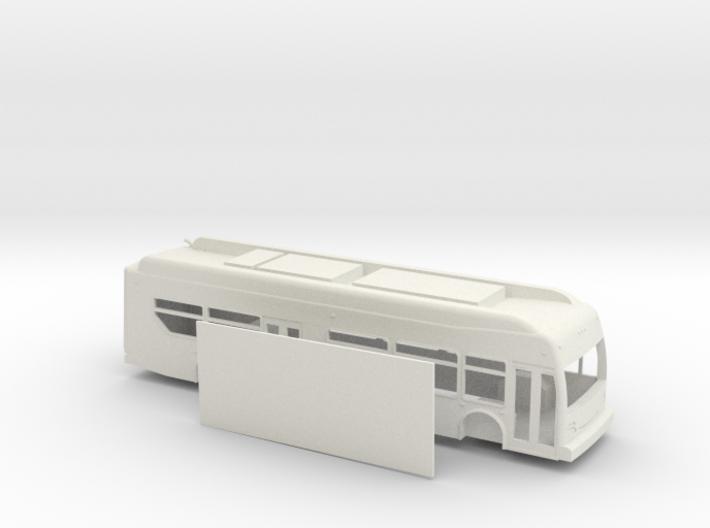 HO scale new flyer xcelsior hybrid bus 3d printed