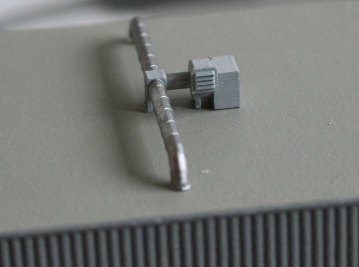 N Scale 3x Rooftop Fan +Ducts 3d printed