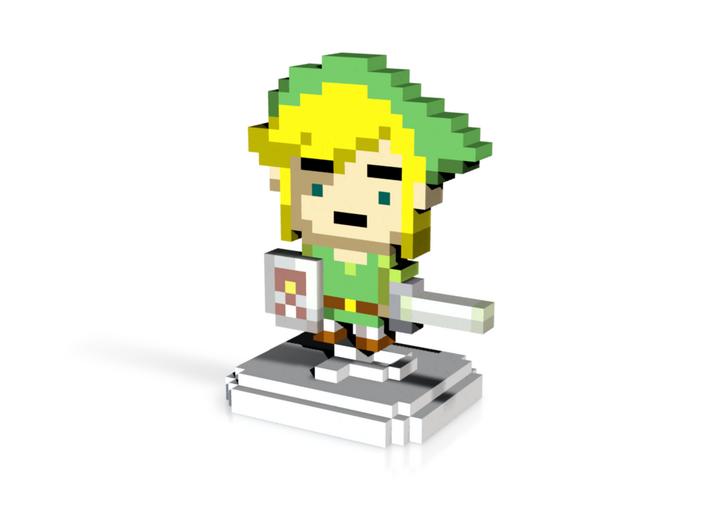 Green Elf (Waker) Pixel Figurine 3d printed