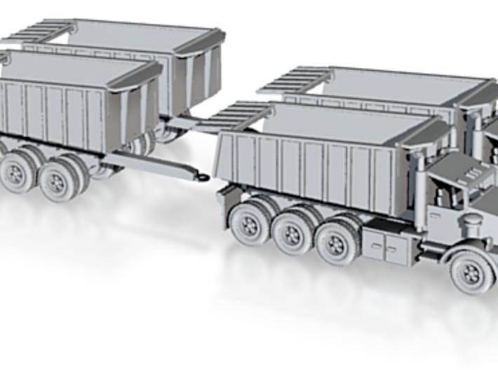 2 Tri Axle Dump Trucks W DumpTrailer Z Scale 3d printed