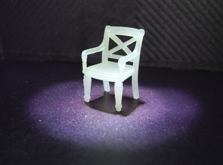 1:48 Phyfe Chairs, Set of 4 3d printed