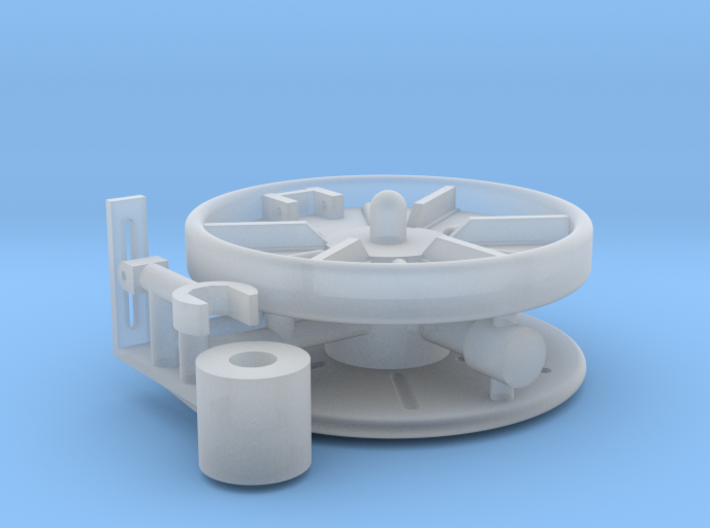 1/16 Turret Cable Reel 3d printed