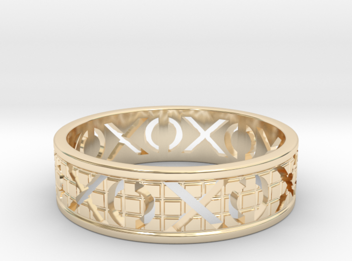 Size 13 Xoxo Ring A 3d printed