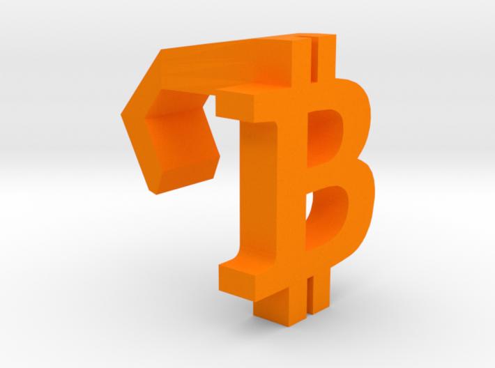 iMac Camera Cover - Bitcoin Logo 3d printed