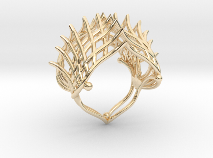 Ring The Iroquois\ knuckle / size 6 US (16,5 mm 3d printed