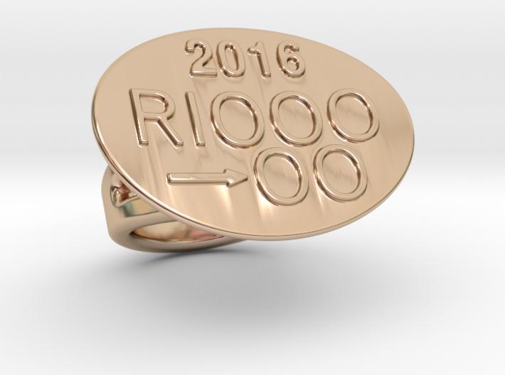Rio 2016 Ring 15 - Italian Size 15 3d printed
