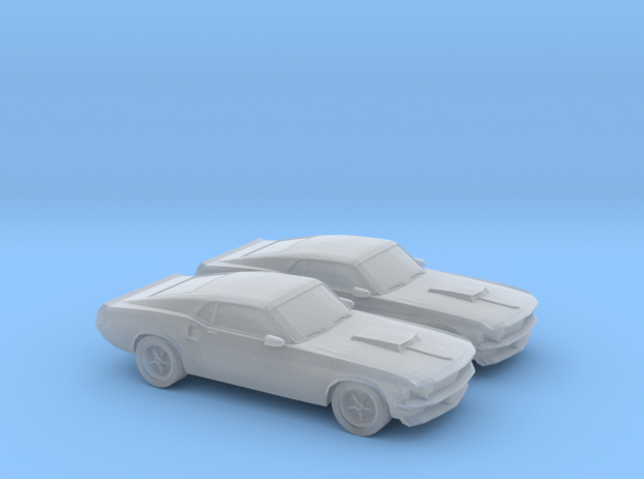 1/148 2X 1969 Ford Mustang Boss 429 3d printed