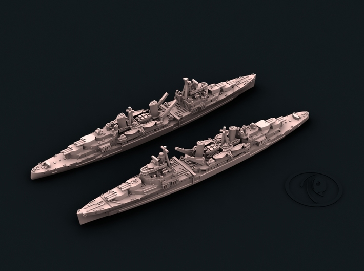 UK Town Class Light Cruisers 3d printed Belfast[1942]