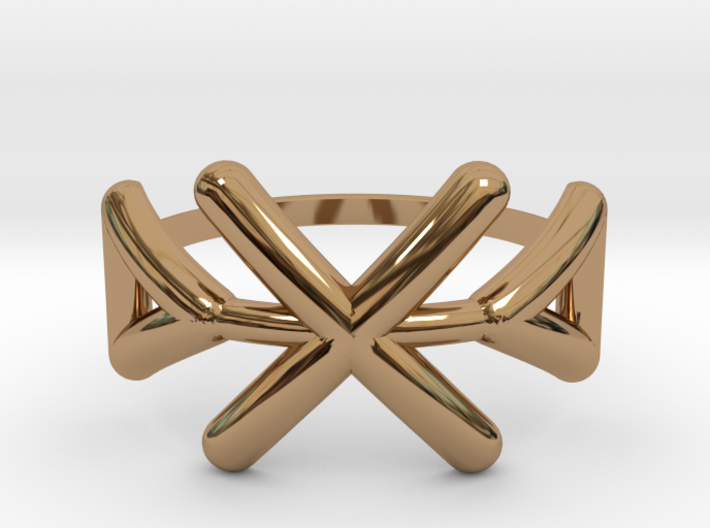 Tribal ring Size M / 6 3d printed
