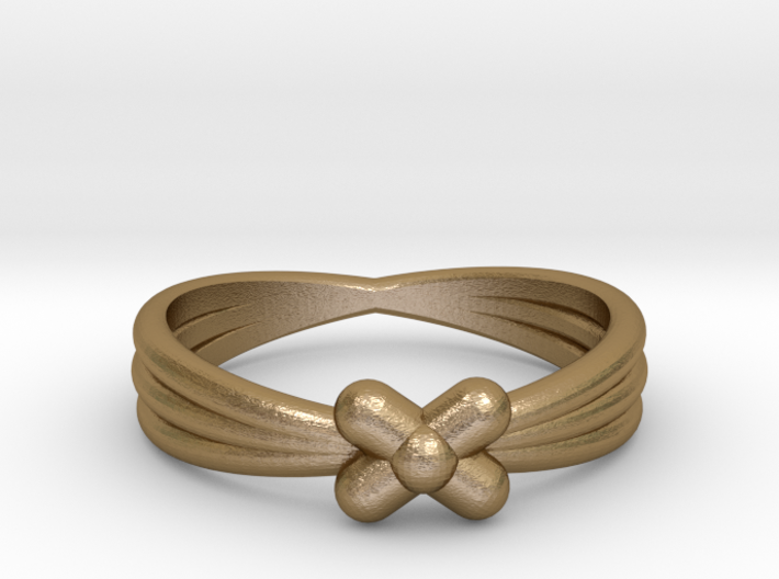 Little Flower ring Size M 3d printed