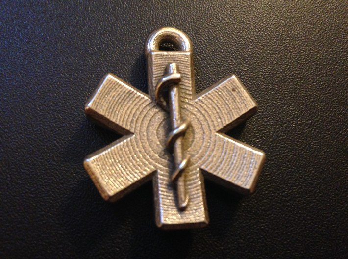 Star Of Life Blank 3d printed