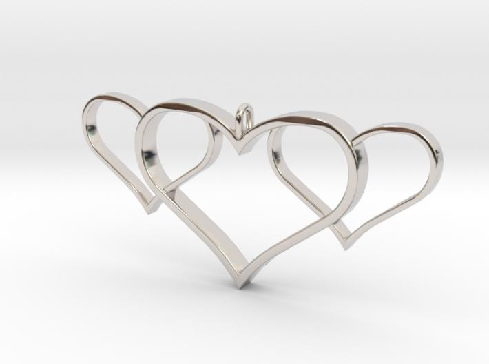 3 Heart Pendant 3d printed