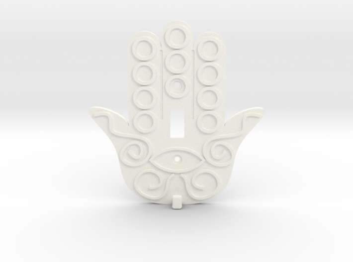 Hamsa Switch Plate with Key Hanger - Xansibar Des 3d printed