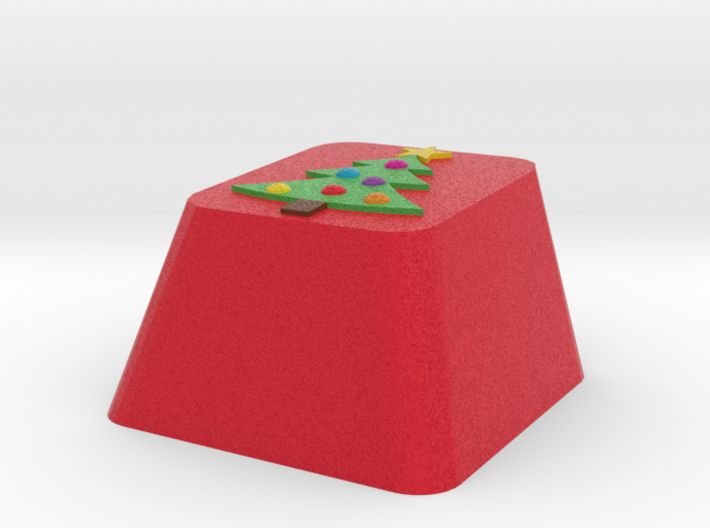 Christmas Tree Keycap Cherry Mx 3d printed