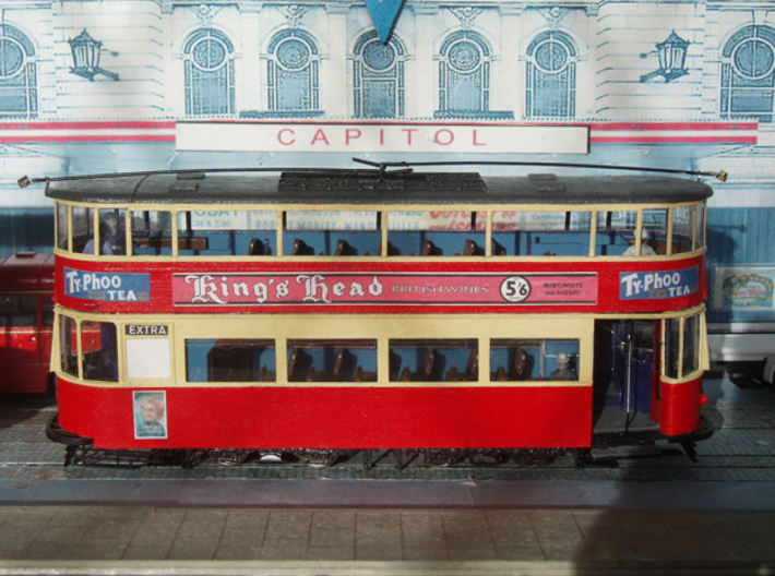1:43 L.T. Tram No 1-Part 1 3d printed Upper & lower decks not yet joined together.