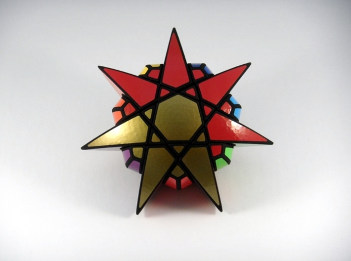 Star of The Seven Puzzle 3d printed Three Turns