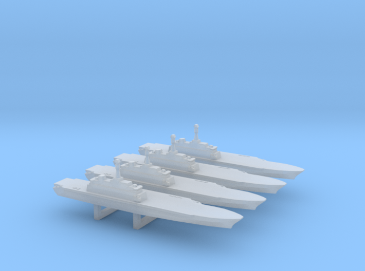 Project 10200 Helicopter Carrier x 4, 1/6000 3d printed