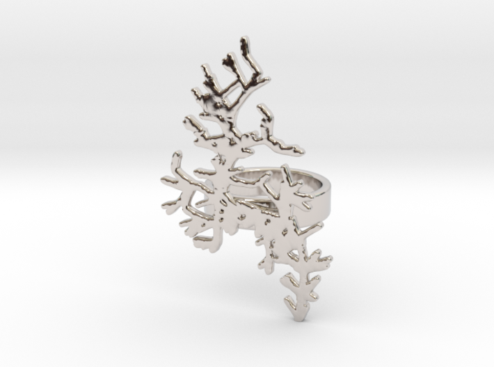 Seaweed Ring v.1 - size M 17mm 3d printed
