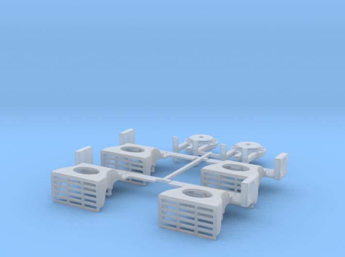 PRR N5b Cabin Car Detail Kit (1:29 Scale) 3d printed