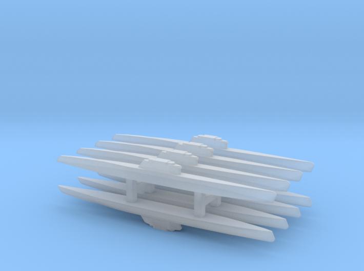 Type XXI Submarine x 8, 1/2400 3d printed