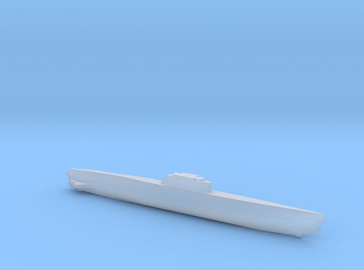 Type XXI Submarine, Full Hull, 1/1800 3d printed