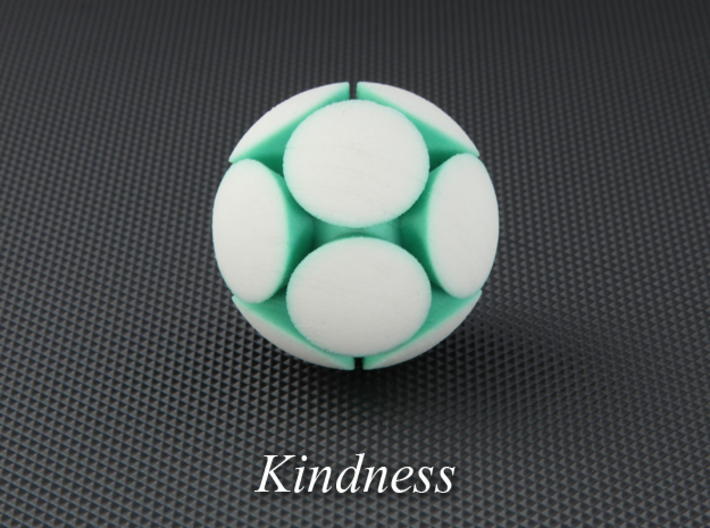 LuminOrb 1.5 - KINDNESS 3d printed Photograph of KINDNESS in Full Color Sandstone
