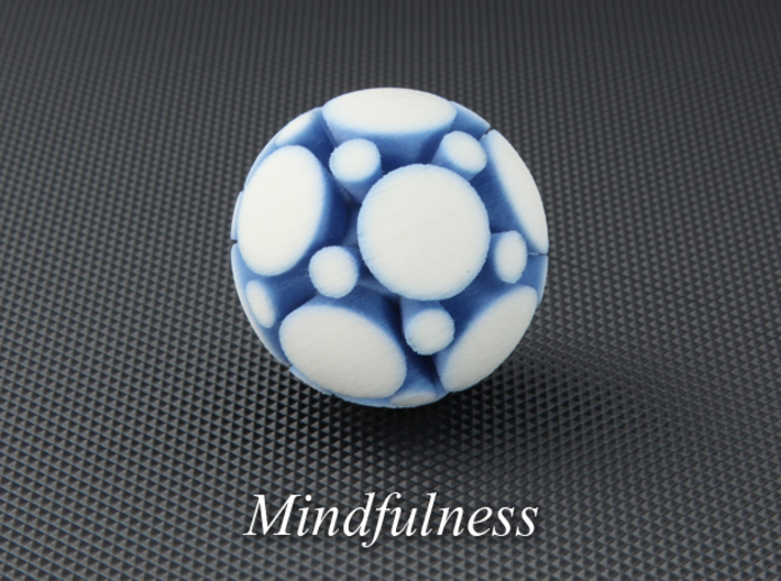 LuminOrb 1.8 - MINDFULNESS 3d printed Photograph of MINDFULNESS in Full Color Sandstone