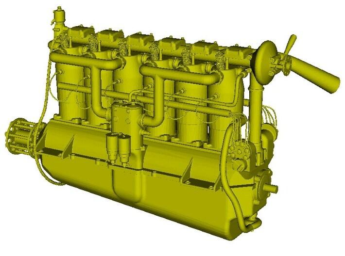 1/18 scale Daimler Mercedes D.III engine model kit 3d printed