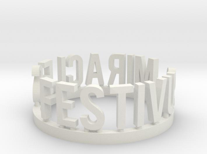 DRAW Festivus - Festivus Miracles ring 3d printed
