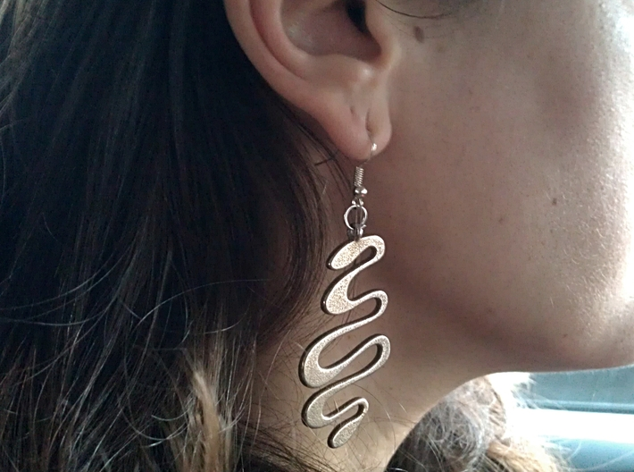 SNAKE earrings 3d printed Stainless Steel
